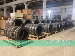 印尼金光集团OKI造纸厂项目橡胶管接头发货照片