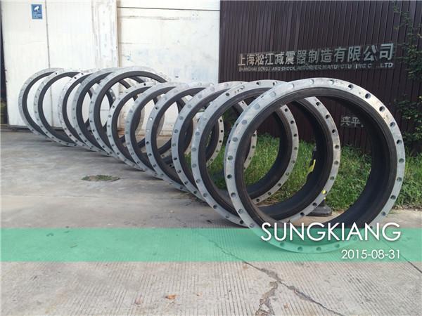 自来水厂采用上海淞江热镀锌法兰橡胶挠性接头发货