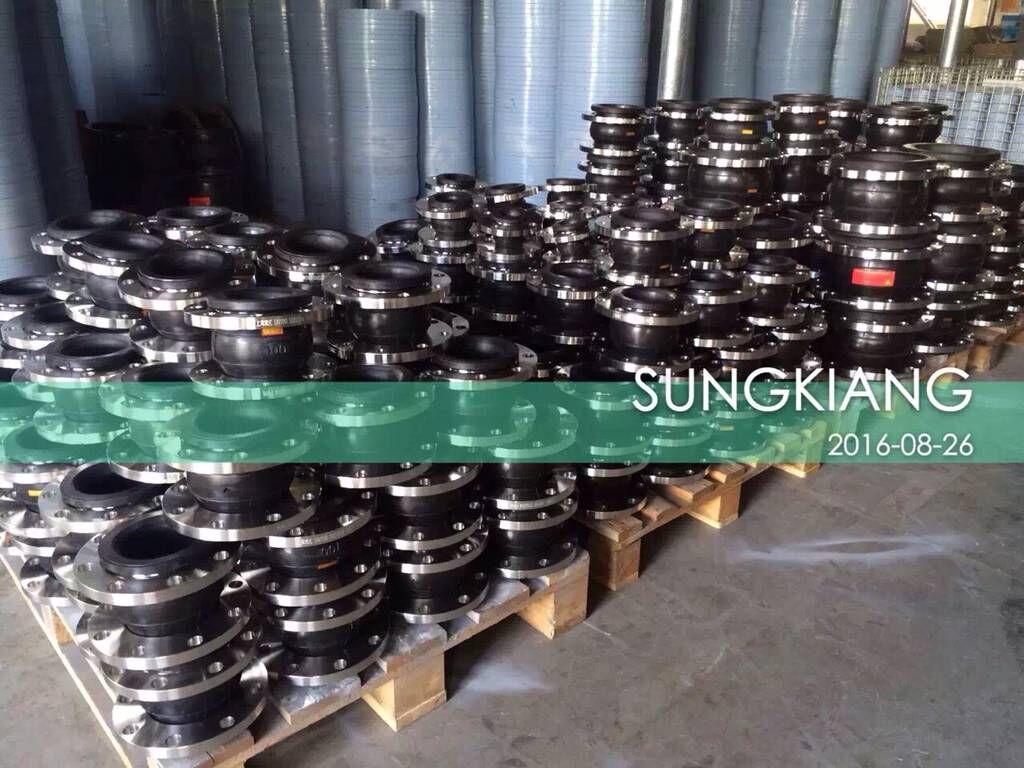山东烟台电厂项目不锈钢橡胶挠性接头上海淞江提*